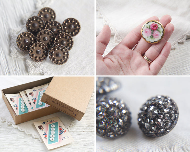 Vintage and Antique Buttons - Smile Mercantile