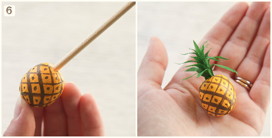 Miniature Spun Cotton Fruit Tutorial