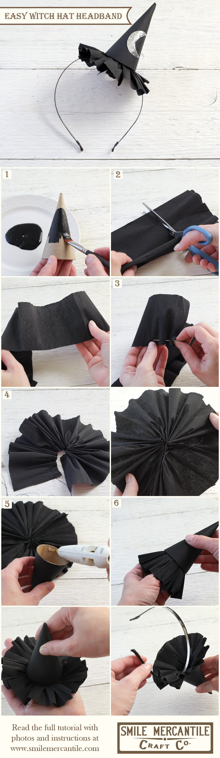 Tutorial: Easy Witch Hat Headband