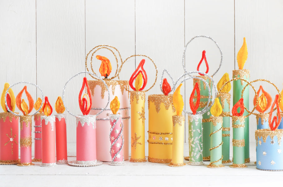 retro vintage christmas candles