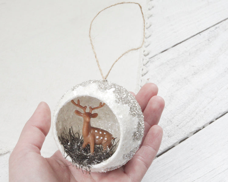 Tutorial: Deer Diorama Ornament