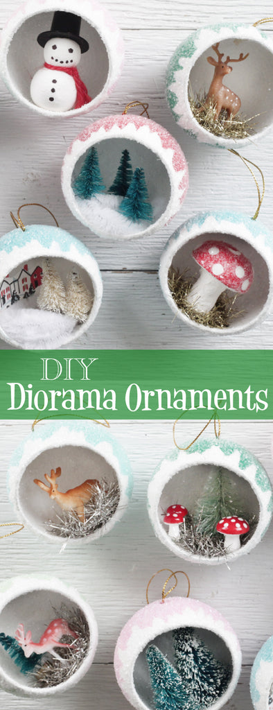 Christmas Diorama Ornaments.Make Retro Diorama Ornaments Filled With Miniatures