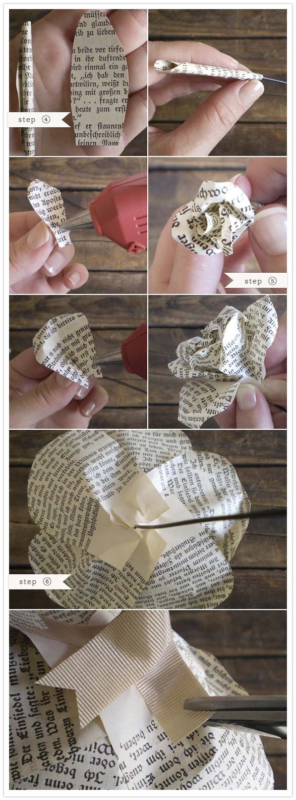 Paper Flower Tutorial: Storybook Paper Roses