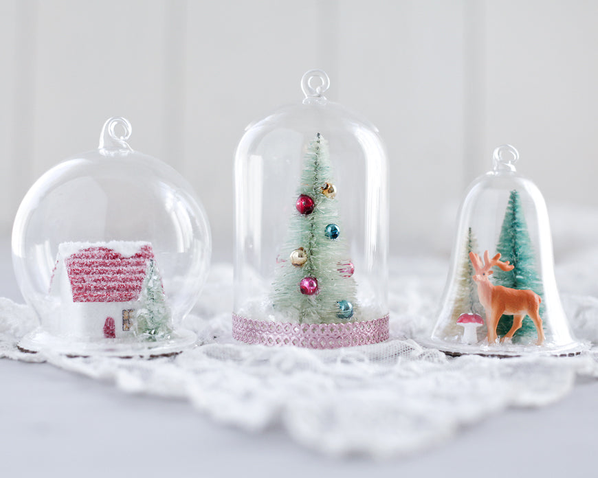 DIY Snow Globe Ornaments - Fun Christmas Crafts