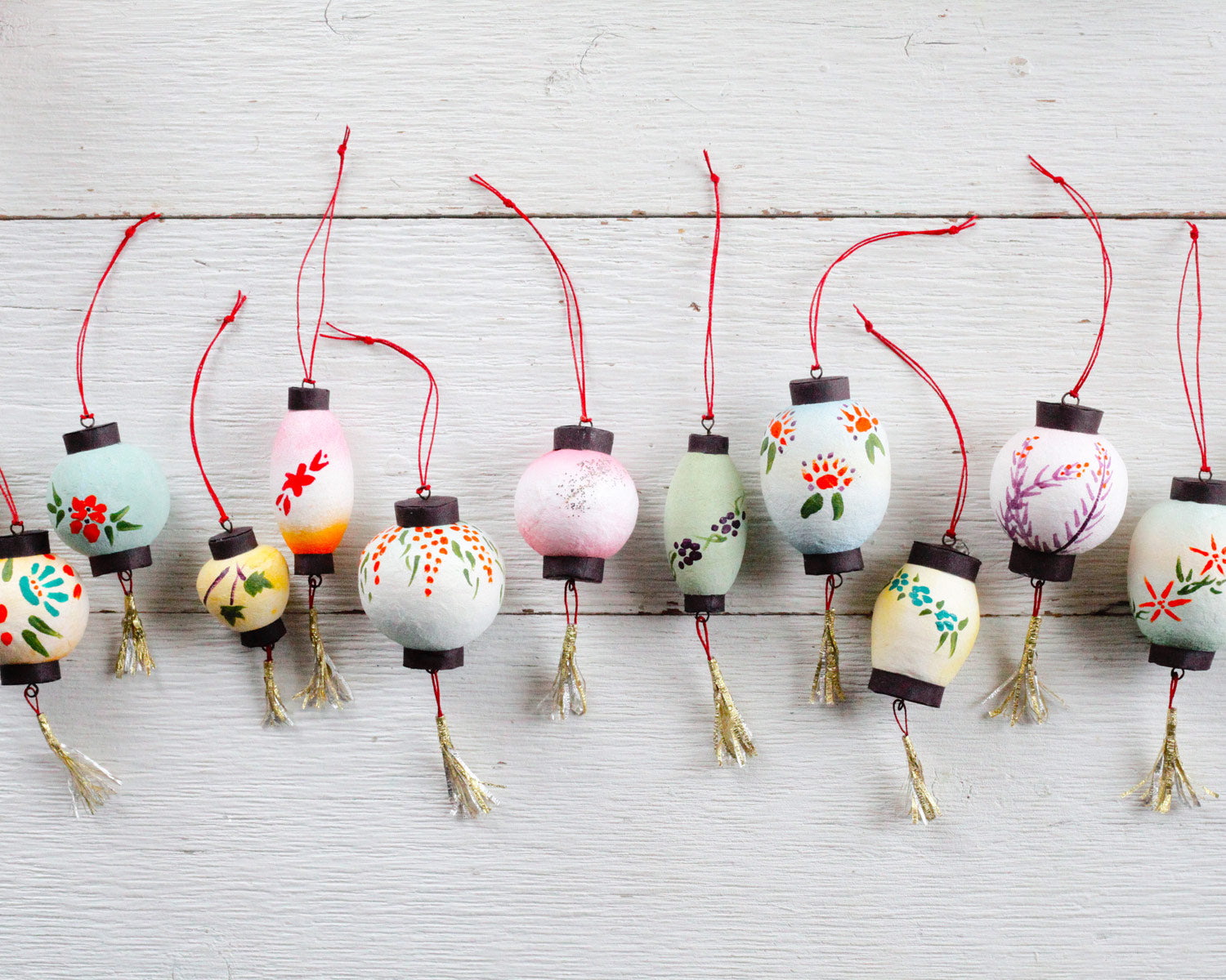 Spun Cotton Lanterns