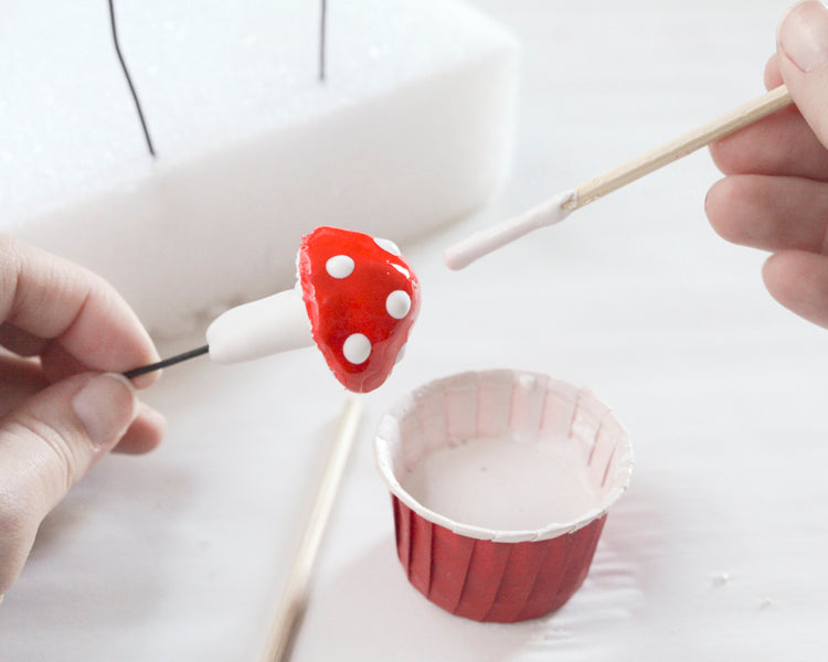 Tutorial: Plaster Fairy Mushroom Picks