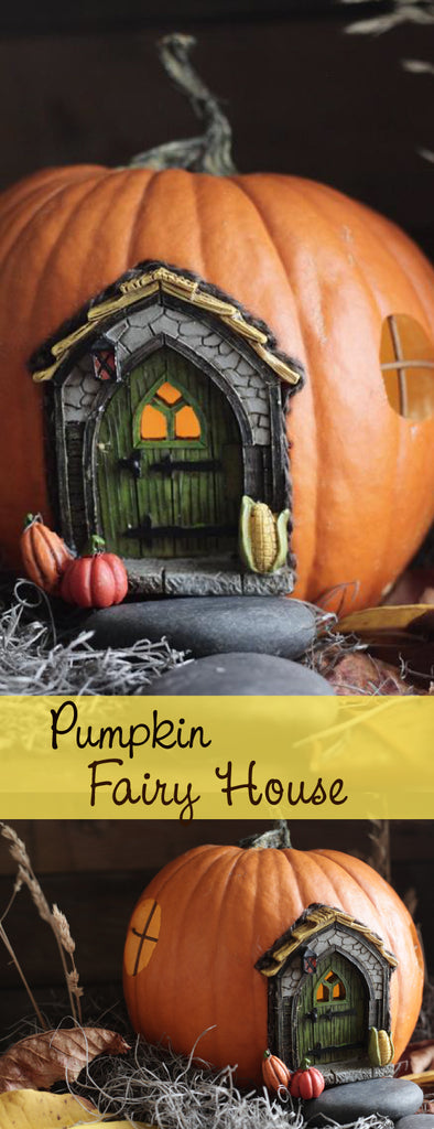 pumpkin fairy house for Halloween
