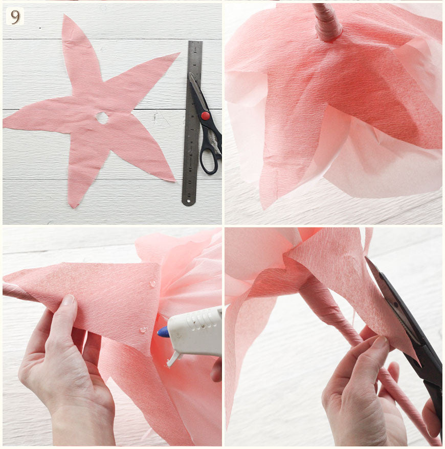 Tutorial Make Giant Paper Flowers Smile Mercantile Craft Co