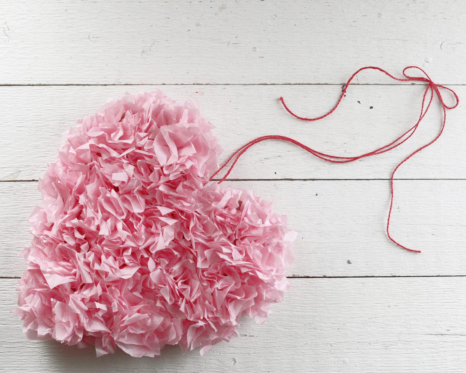 Tissue Paper Heart Craft Project