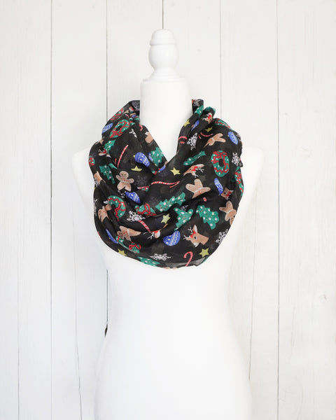 Christmas Explosion - Festive Holiday Infinity Scarf