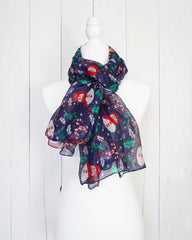 Frosty Nights - Retro Christmas Scarf