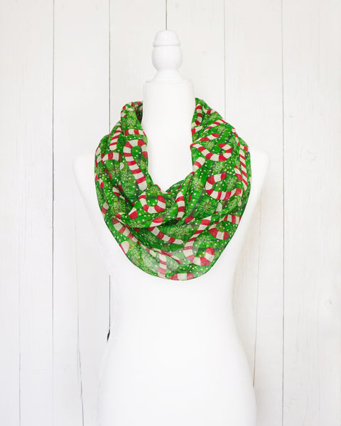 Candy Cane - Infinity Christmas Scarf