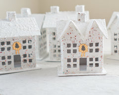 Studio Sample Sale - White Putz Houses, 5 Pcs.