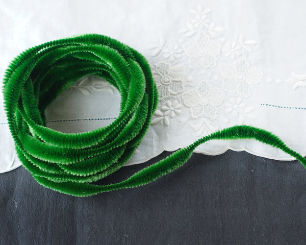 Bump Chenille - Christmas Green Pipe Cleaner Wired Craft Trim, 4 Yds.