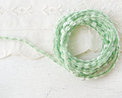 Caterpillar Bump Chenille - Mint Green Crushed Velvet Wired Trim, 3 Yds.