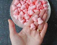 Mini Pink Bells - 20mm Tinted Spun Cotton Craft Shapes, 15 Pcs.