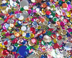 Retro Sequins and Spangles - Multi Color Novelty Mix, 1/2 Cup