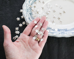 Tiny Paper Stars - Silver Foil Die Cut Star Shapes, 100 Pcs.