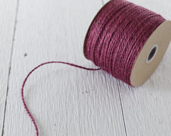 Plum Purple Twine - 2 Ply Jute, 100 Yard Spool