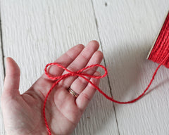Red Twine - 2 Ply Jute, 100 Yard Spool