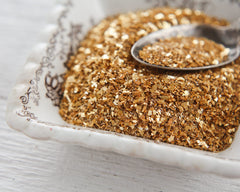 gold glass glitter