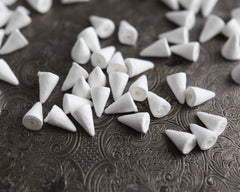 Mini Spun Cotton Cone Craft Shapes, 14 x 9mm, 12 Pcs.