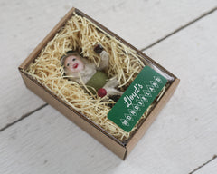 spun cotton elf ornament