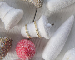 Studio Sample Sale - Glittered Items, Unfinished Ornaments