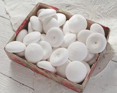 Puffy Mushroom Caps - 43mm Spun Cotton Shapes
