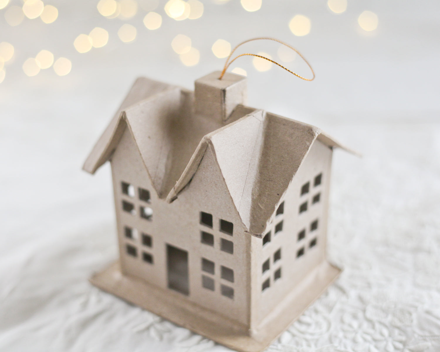 Paper Mache Craft House Cardboard House Smile Mercantile Craft Co