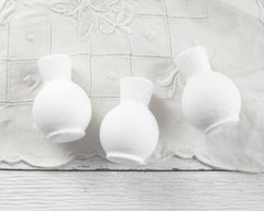 Spun Cotton Vase - 55mm Craft Shapes, 3 Pcs.