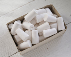 Spun Cotton Stoppers - 38mm Tapered Peg / Plug Craft Shapes, 8 Pcs.