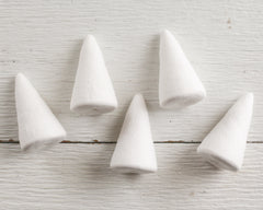 Spun Cotton Cones, 60mm Cone Craft Shapes, 5 Pcs.