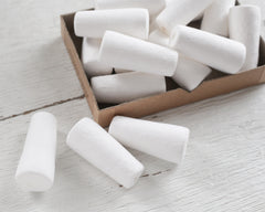 Large Spun Cotton Stoppers - 54mm Tapered Peg / Plug Craft Shapes, 5 Pcs.