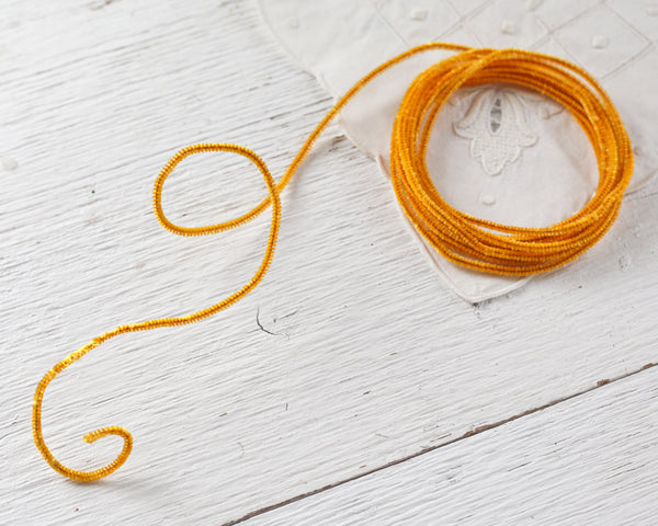 Skinny Pipe Cleaner Roping - Vintage Harvest Gold Wired Chenille, 3 Yds.