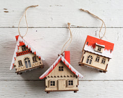 wooden house ornaments