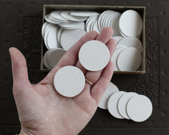 1.5 inch chipboard circles