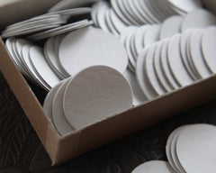 die cut chipboard circles