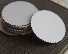 3-Inch Chipboard Craft Circles - Die Cut Serrated Edge Cardboard Rounds, 8 Pcs.