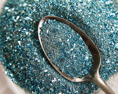 German Glass Glitter, Aqua Blue
