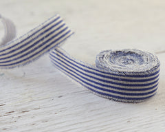 blue linen ribbon