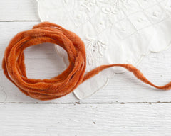 Fuzzy Bump Chenille - Vintage Burnt Orange Wired Craft Trim, 3 Yds.