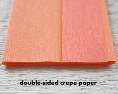 Crepe Paper Rose Kit - Makes 6 Old Fashioned Crepe Paper Flowers - Coral