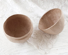 Paper Mache Egg Box - Plain Kraft Easter Egg Candy Container