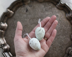 speckled egg ornament