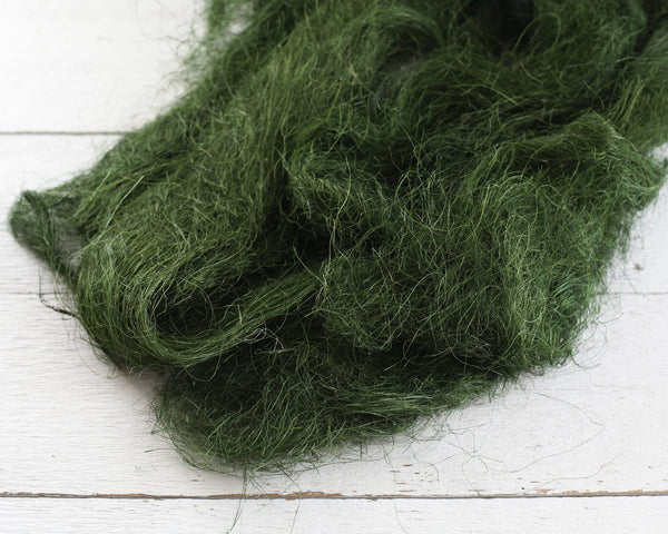 Moss Green Sisal Fiber Easter Basket Filler, Fine Craft Fluff, 4 Oz. Bag