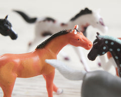 Miniature Plastic Horses - 8 Horse Craft Figurines