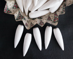 Spun Cotton Icicles - Vintage-Style Icicle Ornament Shapes, 5 Pcs.