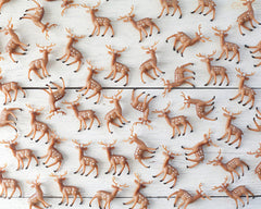 Bulk Miniature Plastic Deer Craft Figurines