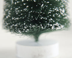 Large Bottle Brush Tree - 8 Inch Frosted Sisal Christmas Tree